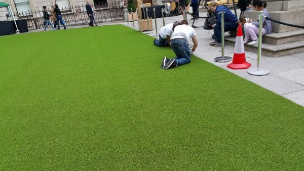 Artificial grass for events